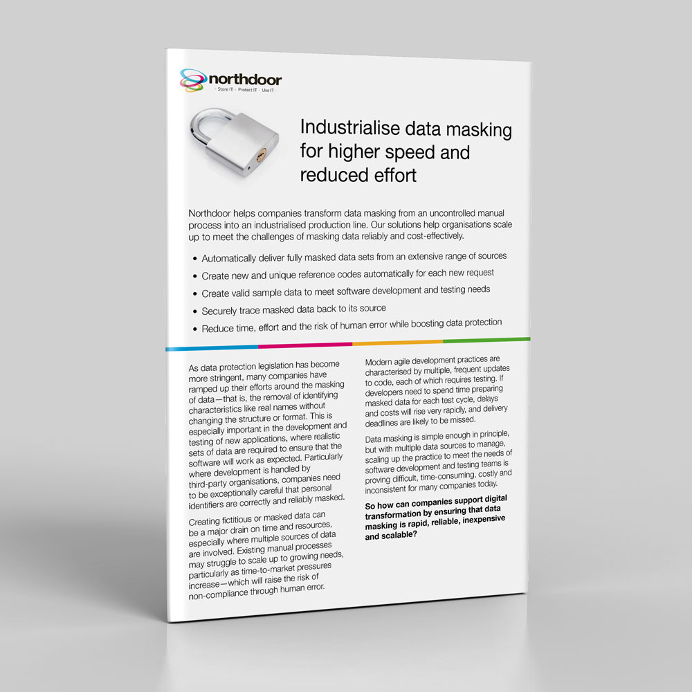 Industrialise data masking for higher speed and reduced effort