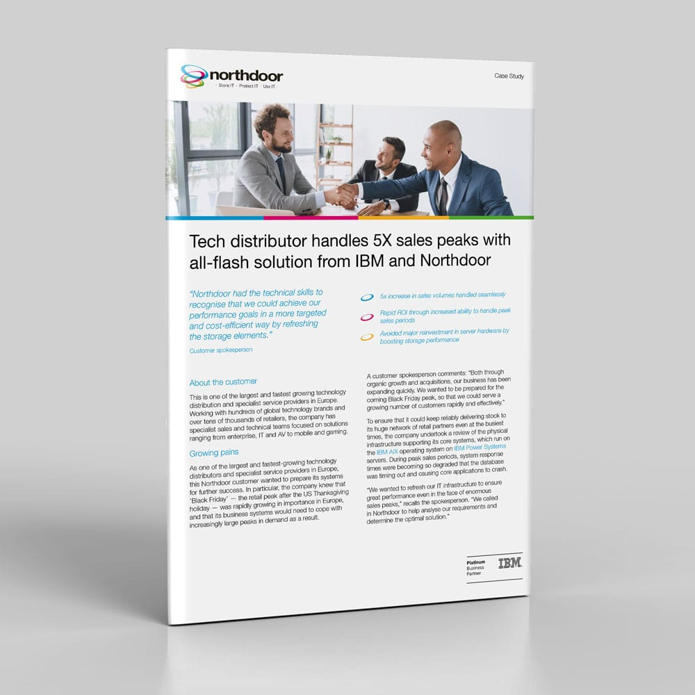 Tech distributor handles 5X sales peaks with all-flash solution from IBM and Northdoor