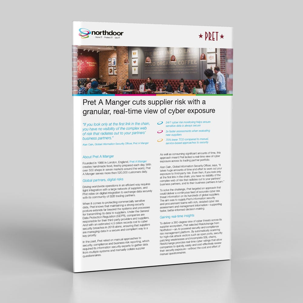 Pret A Manger cuts supplier risk with a granular, real-time view of cyber exposure